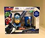 Captain America Super Smile Set Toothbrush Holder, Toothbrush, & Rinse Cup