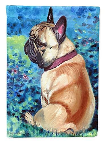 Caroline's Treasures 7313GF Fawn French Bulldog in Flowers Flag Garden Size, Small, Multicolor