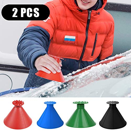 Review Of Magical Ice Scrapers for Car Windshield, Ice Snow Remover Scraper Tool Cone Shaped Round F...