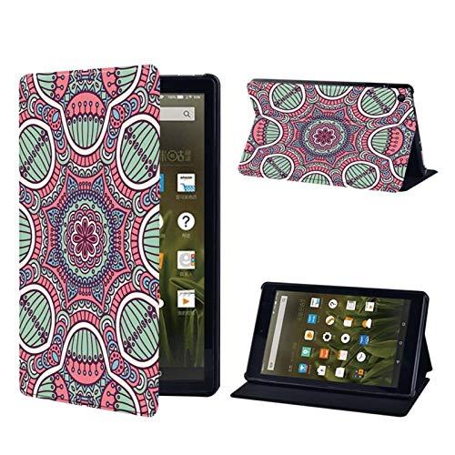 Casos de libro electrónico Tablet soporte ajustable plegable durable cubierta for Kindle Fire 7/Fire HD 8 / Fire HD 10 cuero de la tableta de la PU Casual ( Color : 024 , Size : Fire HD 10 (7th gen) )
