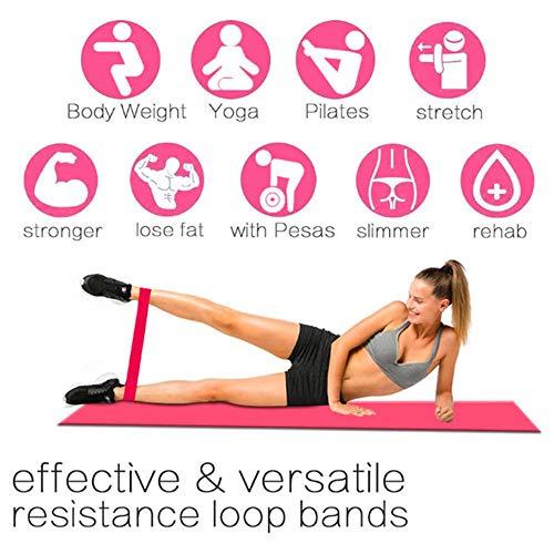 Bandas de goma para yoga de Nobrand, suave y resistente al desgaste, equipo de fitness, bandas de resistencia de fitness, goma elástica, morado