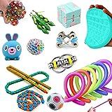 Hinder Juego de juguetes sensoriales, 19 juguetes sensoriales para autismo TDAH, bolas de estrés alivio de la ansiedad, alivio del estrés y antiansiedad, regalo para adultos, bolsas de fiesta