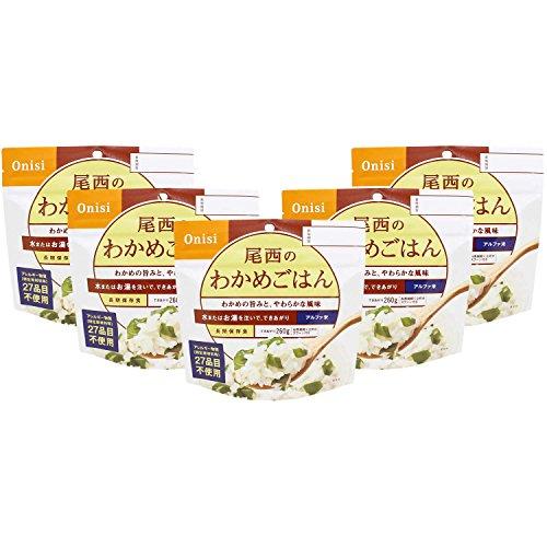 尾西食品 アルファ米 わかめごはん100g×5食