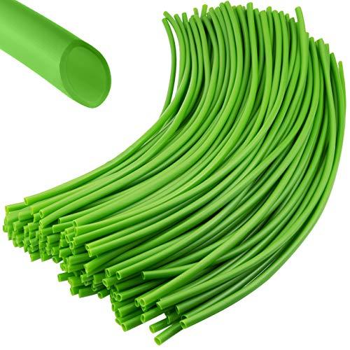 Weicher Bindeschlauch – für Pflanzen und Bäume, besonders schonende Hohlschnur für den Garten, Frost- und UV-sicher, Grün, 150 Stücke á 35 cm Länge - 4mm Dicke