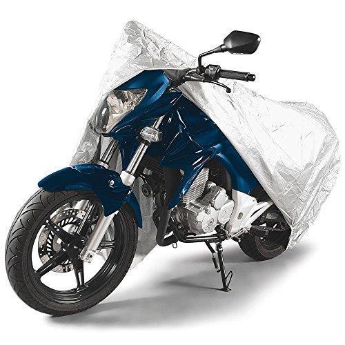 Tramontina 43782003, Capa para Motos G, Impermeável, Poliéster de Alta Qualidade para Motos de Ate 2,2M, Cinza