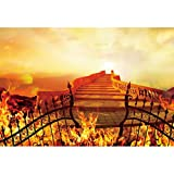 CSFOTO 10x8ft The Gate of The Hell Backdrop for Photography Hellfire Stairway to Hell Christian Religious Belief Church Event Background Adult Artistic Portrait Photoshoot Props