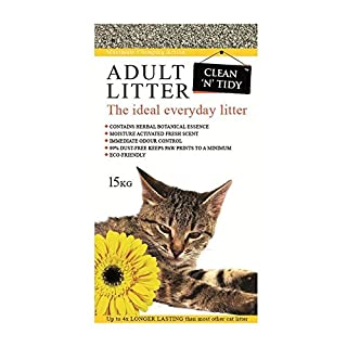 Clean-n-Tidy Adult Everyday Cat Litter, 15 Kg (B0061KHSM6) | Amazon price tracker / tracking, Amazon price history charts, Amazon price watches, Amazon price drop alerts