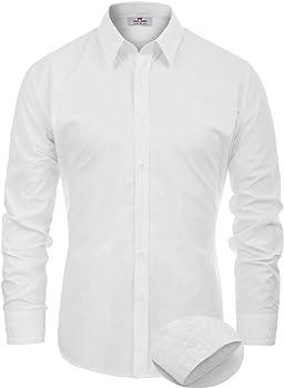 Paul Jones Men's Regular Fit Classic Collar Business Dress Shirt
