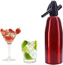 1 litre d'aluminium Soda Siphon, machine Soda, distributeur d'eau gazéifiée, Fizzy boissons Maker, Carbonator,Rouge