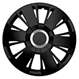 15pulgadas tapacubos Sportivo (Negro con anillo cromado). Tapacubos apto para casi todos los Ford Vehículos