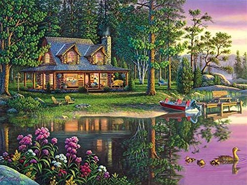 5D DIY Diamond Painting Scenery Landscape Cross Stitch Full Drill Round Diamond Embroidery Mosaic Pictures of Rhinestones A2 50x70cm