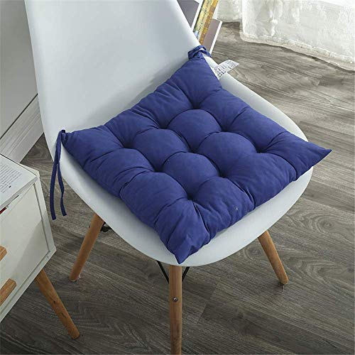ZHANGYY Chair Seat Cushions Chair Pads Tie-On Seat Pad for Garden Patio Kitchen Dining, Set of 2,40 * 40cm (Blue)