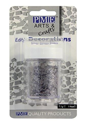 PME Glitzerflocken - Silber, 7 g