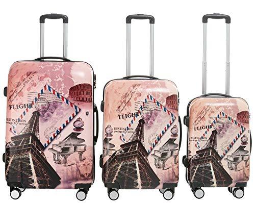 BEIBYE Polycarbonat Hartschale Koffer 2060 Trolley Reisekoffer Reisekofferset Beutycase 3er oder 4er Set (Tower)
