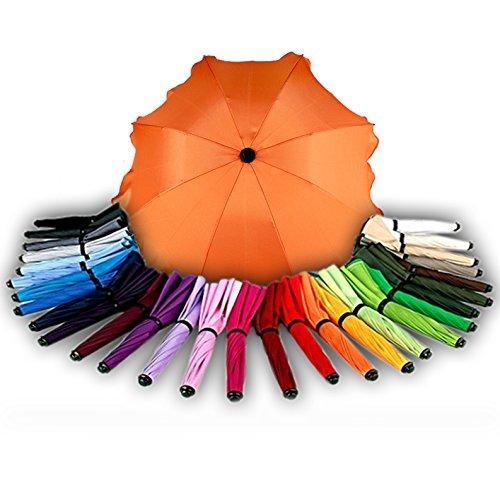 BAMBINIWELT Sonnenschirm für Kinderwagen Ø68cm UV-Schutz50+ Schirm Sonnensegel Sonnenschutz (Orange) XX