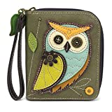 CHALA Zip-Around Wallet - Owl-A-Olive