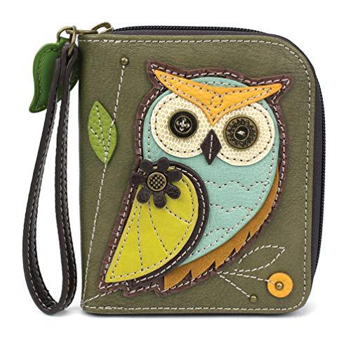 CHALA Zip-Around Wallet - Owl-A-Olive