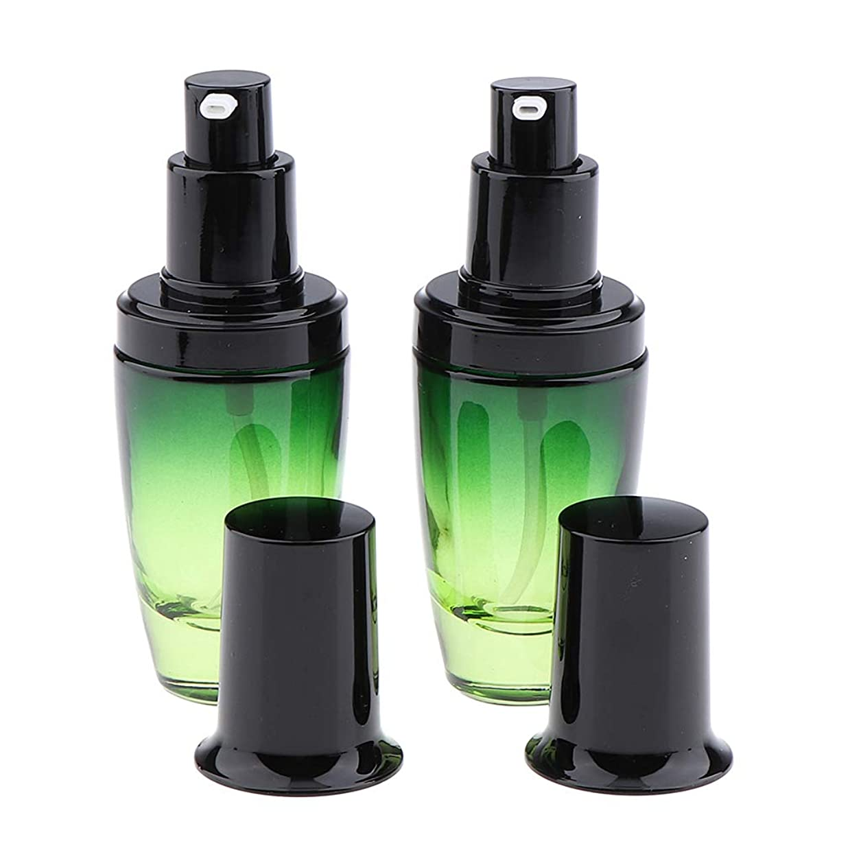 それる篭仕方F Fityle 2個 ポンプボトル ガラスボトル メイクコンテナ クリームジャー 旅行小物 3サイズ選べ - 30ミリリットル