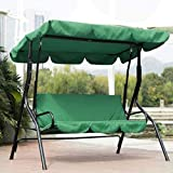 FinWell Swing Seat Cover for Three-Seat Swing Chair Waterproof Cushion Patio Garden Yard Outdoor Seat Replacement