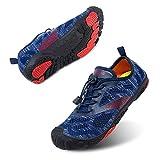 Zapatillas Minimalista Hombre Mujer de Trail Running Escarpines Zapatos de Agua Secado Rápido Deportes Antideslizante Unisexo Azul A Reino Unido 42