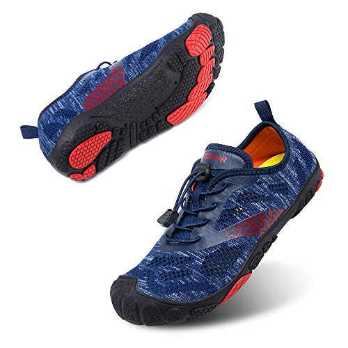 Chaussures Minimalistes Homme Femme Chaussures de Trail Running Aquatiques Séchage Rapide Outdoor Gym Fitness Léger Barefoot Shoes Bleu A 42
