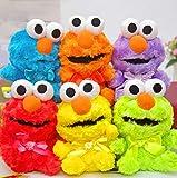 Zpong 6 Colores Q Versión Sesame Street Peluche Elmo Muñecas 12Cm Juguetes Educativos para Niños