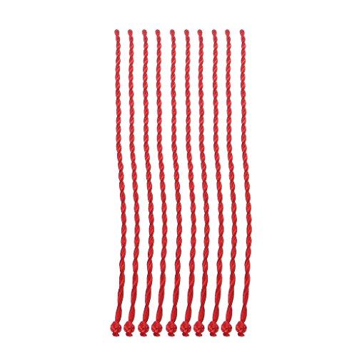 Qirun Pulseras de Kabbalah de Hilo Rojo de 10 Piezas, Accesorios de cordón de Cuerda roja étnica, joyería