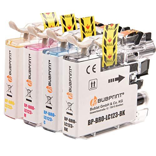 4 Bubprint Druckerpatronen kompatibel für Brother LC-123 für DCP-J132W DCP-J152W DCP-J4110DW DCP-J552DW DCP-J752DW MFC-J245 MFC-J4410DW MFC-J4510DW MFC-J470DW MFC-J6520DW MFC-J6720DW MFC-J870DW