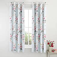 Catherine Lansfield Canterbury Eyelet Curtains 66x72 Inch Duck Egg