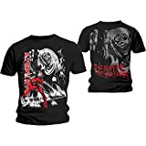 Iron Maiden T Shirt Number of the Beast Jumbo Band Logo Oficial de los hombres