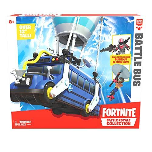 Giochi Preziosi Fortnite Battle Bus con Personaggio, 5 cm