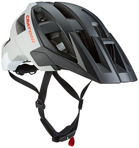 Cratoni Casco para Bicicleta de Todo Listo Black-Gris-White (58 A 61) ML Mate