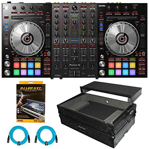 Read About Pioneer DDJ-SX3 DDJSX3 Serato Pro DJ Controller Mixer w Black Flight Case Pack