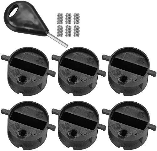 Namvo 6 unidades de ranura para timón de cola de tabla de surf FCS FIN G5 caja con llave de tornillo, color negro