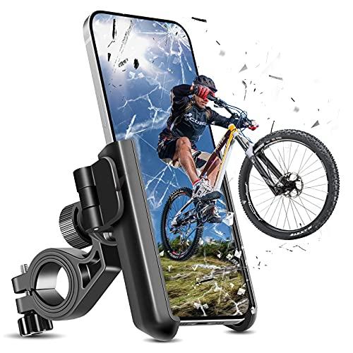 OUTHIKER Mobilhållare cykel universell mobiltelefonhållare motorcykel för vägcykel MTB scooter med 360 vridning och verktygsfri installation för 3,5–7,0 tums smartphone