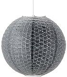 Mathias 3182461 Délice Boule à Suspendre 52 W E27 230 V Gris Papier Diamètre 45 cm