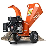 SuperHandy Mini Wood Chipper Shredder Mulcher Heavy Duty 7HP 212cc Compact Design 3' Inch Max Capacity
