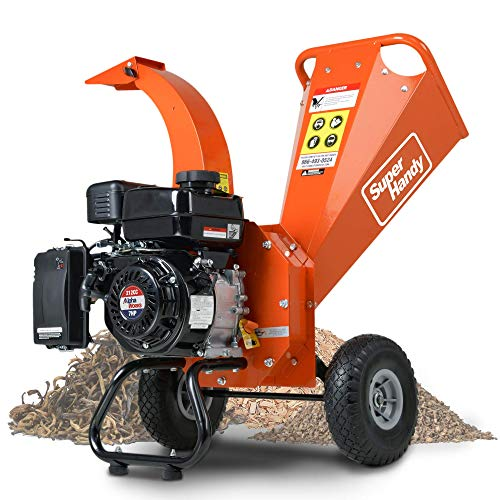 SuperHandy Mini Wood Chipper Shredder Mulcher...