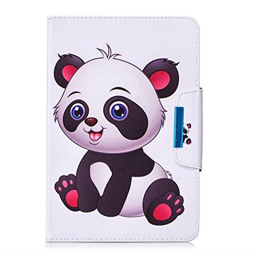 "Funda para 9-10.1"" Tableta, Carcasa Protección para iPad 2018/iPad Air, Asus Zenpad 10, Lenovo Tab3 10 Plus/Tab 2 A10-70, Huawei MediaPad T5 10 / M5 Lite 10, Samsung Galaxy Tab A6 10.1"",Panda"