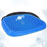 LEcylankEr Cojín de gel ortopédico con funda antideslizante y con innovadora construcción de panal de abeja, para coche, oficina y silla de ruedas, alivia la fatiga de la cadera (trapezoid)