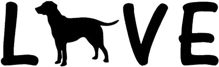 YINGJUN 15x4.5cm LOVE Vinyl raamstickers Labrador Creative Fashion Accessories C5-0572 Accessoires (Color : Black)