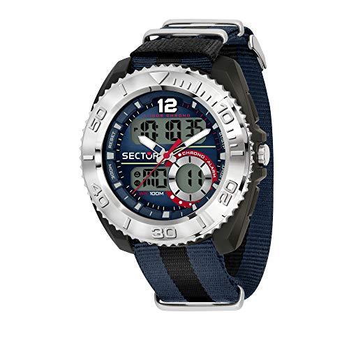 Sector No Limits Reloj Analógico-Digital para Hombre Correa en Nailon R3251521003