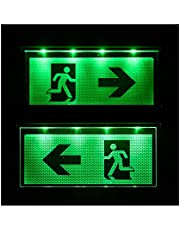 D'urgence Lampe éclairage d'urgence Exit sortie de secours fuite Lampadaire Lumière d'urgence fuite voie Flèche vers la gauche/droite