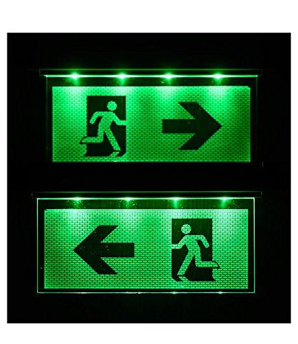 Notleuchte Notbeleuchtung Exit Notausgang Fluchtwegleuchte Notlicht Fluchtweg Pfeil nach Links/ Rechts