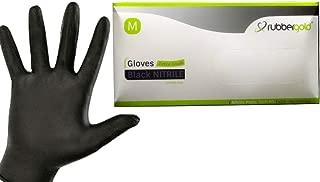 Talla: M Color: Negro mediana Guantes de nitrilo desechables Sin l/átex ni talco Paquete de 5 cajas de 100 guantes cada una Hevea
