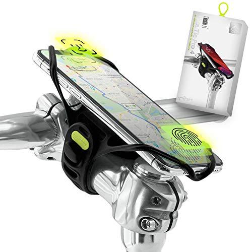 """Bone Collection PRO 4 (4ª Gen) Porta Cellulare da Bici per Attacco Manubrio - Compatibile Face ID, Telefoni da 4,7"""" a 7,2"""", Ultra Leggero, Progettato per Bicicletta da Strada, Corsa e Cicloturismo"""