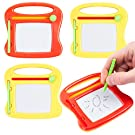 24 PCS Mini Magnetic Drawing Board for Kids | Erasable Writing & Painting Boards | Travel Size Sketch & Doodle Pads | Party Bag Fillers, Birthday Favors, Art Supplies & Classroom Rewards or Prizes