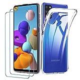 iLiebe Klar Silikon Hülle für Samsung Galaxy A21s