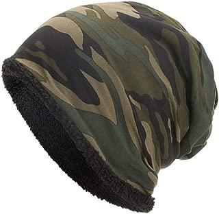 EnjoCho ❤Clearance Sale❤ 2018 New Women Men Warm Baggy Camouflage Crochet Winter Wool Ski Beanie Skull Caps Hat (Army Green)