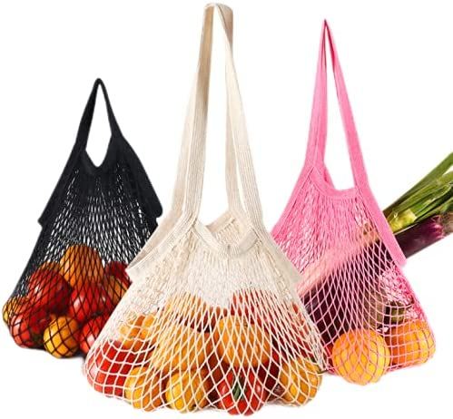 Reusable Grocery Shopping Super special price Quantity limited Bags 100% Bag Mesh Groce Cotton Tote
